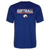 Performance Royal Tee-Softball Shelf