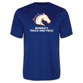 Performance Royal Tee-Womens Track and Field
