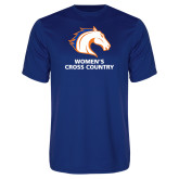 Performance Royal Tee-Womens Cross Country