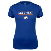 Ladies Syntrel Performance Royal Tee-Softball Shelf