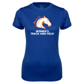 Ladies Syntrel Performance Royal Tee-Womens Track and Field