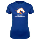 Ladies Syntrel Performance Royal Tee-Womens Cross Country