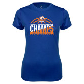 Ladies Syntrel Performance Royal Tee-2016-17 Regular Season Champs - Mens Basketball Half Ball
