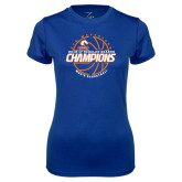 Ladies Syntrel Performance Royal Tee-2016-17 Regular Season Champions - Mens Basketball Lined Ball