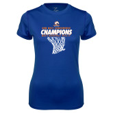 Ladies Syntrel Performance Royal Tee-2017 Mens Basketball Champions Net