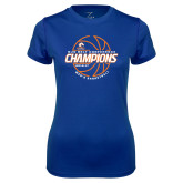 Ladies Syntrel Performance Royal Tee-2017 Mens Basketball Champions Basketball