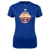 Ladies Syntrel Performance Royal Tee-Movin Mavs NWBA National Champions