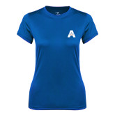 Ladies Syntrel Performance Royal Tee-A with Star