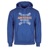 Royal Fleece Hoodie-Baseball Seams