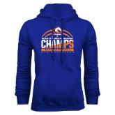 Royal Fleece Hoodie-2016-17 Regular Season Champs - Mens Basketball Half Ball