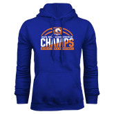 Royal Fleece Hood-2017 Mens Basketball Champions Stacked Baketball