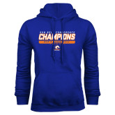 Royal Fleece Hood-2017 Mens Basketball Champions Stacked