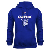 Royal Fleece Hood-2017 Mens Basketball Champions Net