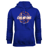 Royal Fleece Hood-2017 Mens Basketball Champions Basketball
