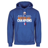 Royal Fleece Hoodie-Movin Mavs National Champions