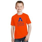 Youth Orange T Shirt-University of Texas Arlington Stacked