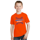 Youth Orange T Shirt-Baseball Seams