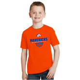 Youth Orange T Shirt-Basketball Net