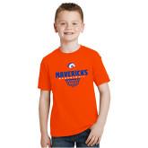 Youth Orange T Shirt-Basketball Net