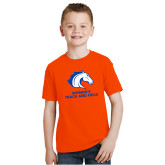 Youth Orange T Shirt-Womens Track and Field