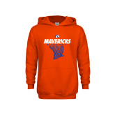 Youth Orange Fleece Hoodie-Basketball Hanging Net