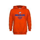 Youth Orange Fleece Hoodie-Basketball Net