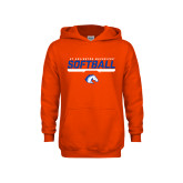 Youth Orange Fleece Hoodie-Softball Shelf