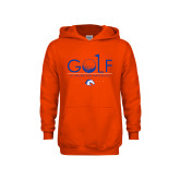 Youth Orange Fleece Hoodie-Golf Hole