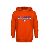 Youth Orange Fleece Hoodie-Volleyball