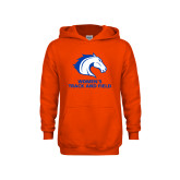 Youth Orange Fleece Hoodie-Womens Track and Field