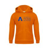 Youth Orange Fleece Hood-Secondary Mark