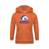Youth Orange Fleece Hood-Mavericks