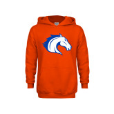 Youth Orange Fleece Hoodie-Horse Head
