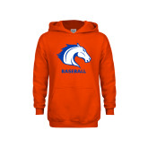 Youth Orange Fleece Hoodie-Baseball