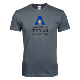 Next Level SoftStyle Charcoal T Shirt-Primary Logo