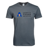 Next Level SoftStyle Charcoal T Shirt-Secondary Mark