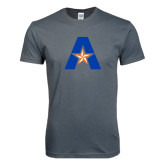 Next Level SoftStyle Charcoal T Shirt-A with Star