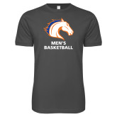 Next Level SoftStyle Charcoal T Shirt-Mens Basketball