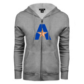 ENZA Ladies Grey Fleece Full Zip Hoodie-A with Star