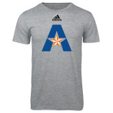 Adidas Sport Grey Logo T Shirt-A with Star