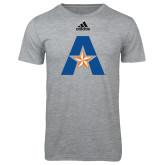 Adidas Sport Grey Logo T Shirt-A with Star