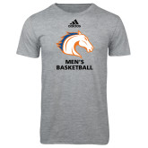 Adidas Sport Grey Logo T Shirt-Mens Basketball