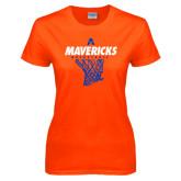 Ladies Orange T Shirt-Basketball Net