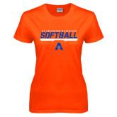 Ladies Orange T Shirt-Softball Shelf