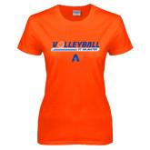 Ladies Orange T Shirt-Volleyball Shelf