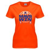 Ladies Orange T Shirt-Mavs Win