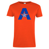 Ladies Orange T Shirt-A with Star