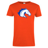 Ladies Orange T Shirt-Horse Head