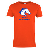 Ladies Orange T Shirt-Mens Basketball