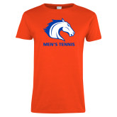 Ladies Orange T Shirt-Mens Tennis